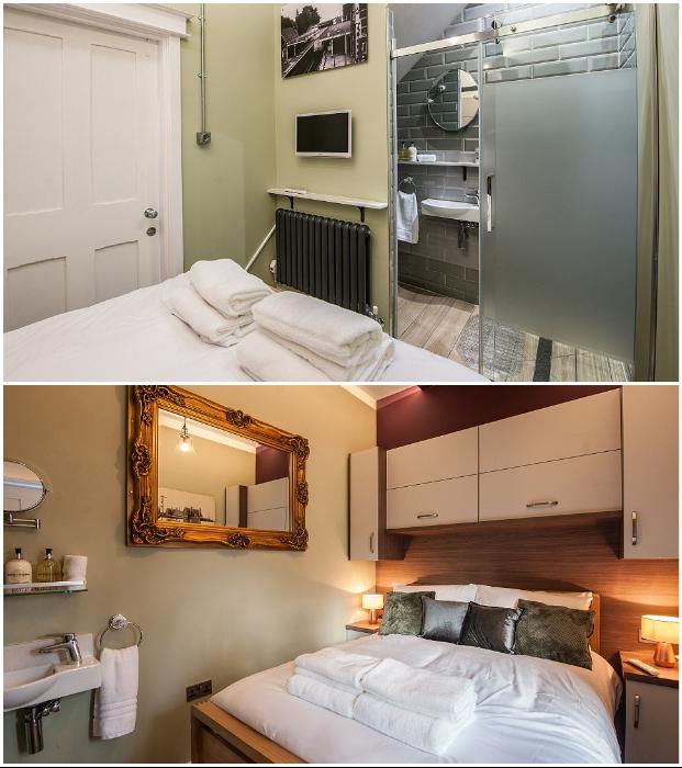 Интерьер спальных комнат гостевого дома Platform Three (Malvern Link, Великобритания).