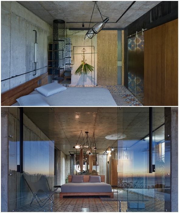 Натуральное дерево и яркая никарагуанская напольная плитка стали основным украшением интерьера спальных комнат (Art Villa, Коста-Рика).