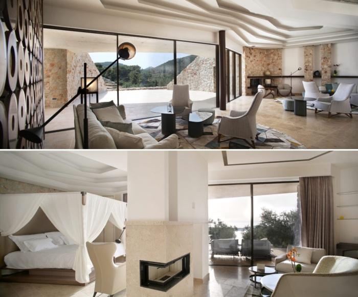 Для отельных номеров мебель делали итальянские мастера бренда Giorgetti (Villa Nai 3.3, Хорватия).