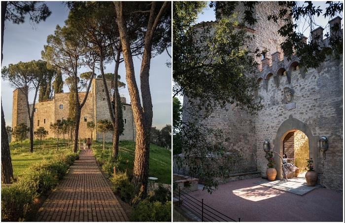 Старинный замок превратили в отель с изысканной обстановкой (Castello Di Reschio Hotel, Италия).
