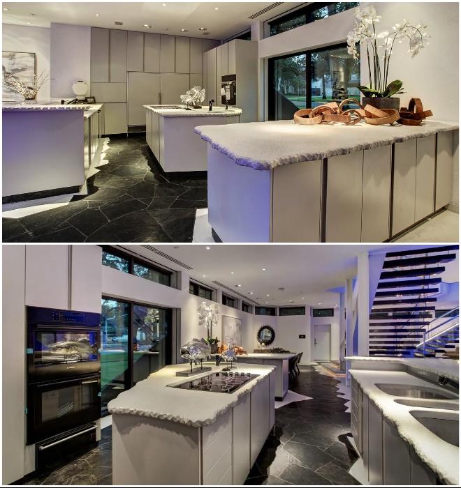 Эффектный дизайн кухни впечатлит даже самых привередливых покупателей (Darth Vader House, Хьюстон).