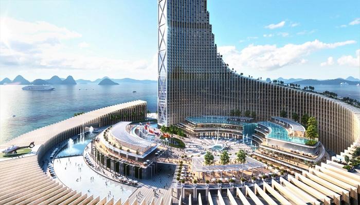 Бутики, кафе, рестораны, парковая зона и бассейны ждут гостей нового комплекса (концепт Zanzibar Domino Commercial Tower). | Фото: designboom.com.