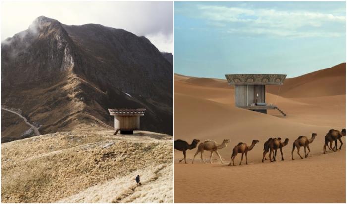 Мини-апартаменты с гибкой планировкой можно устанавливать и на горном плато, и среди пустыни (концепт Casa Ojala').