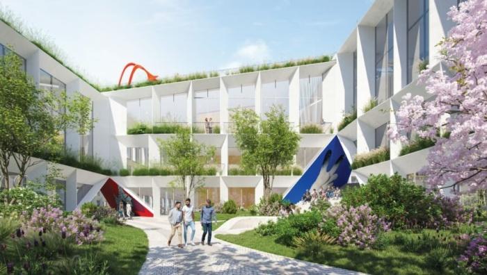 Внутренние дворы будут утопать в зелени (концепт Fase Valley). | Фото: celebritynews.fuzzyskunk.com.