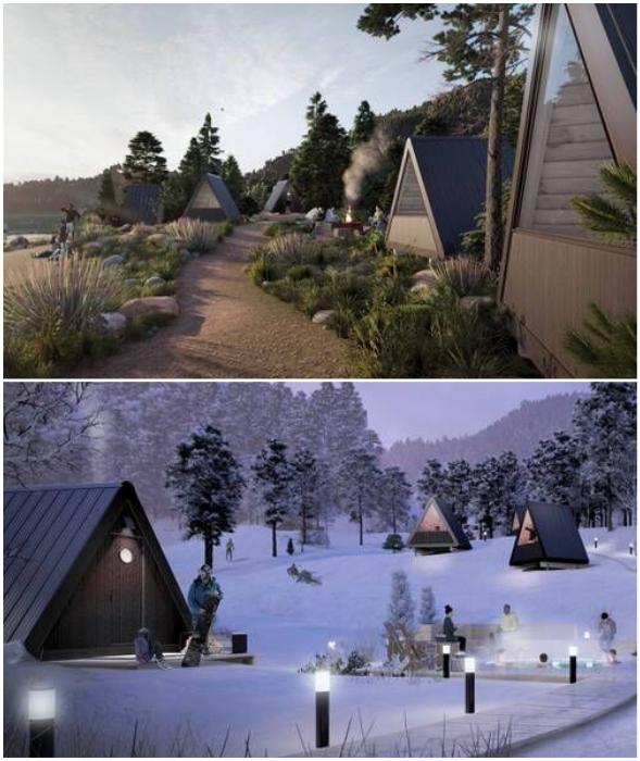 Из крошечных домиков от компании Bivvi Camp можно организовать базу отдыха/глэмпинг (Bivvi Cabin).