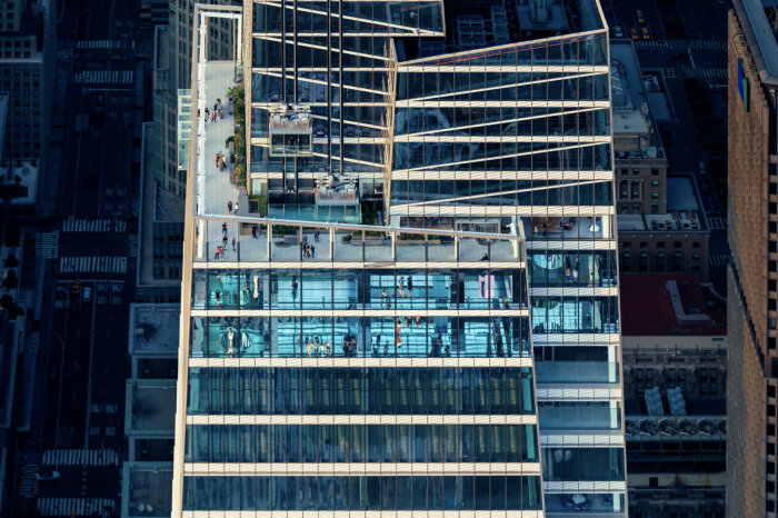 Развлекательные зоны расположены на трех верхних этажах (визуализация Summit One Vanderbilt, Манхэттен). | Фото: newatlas.com.