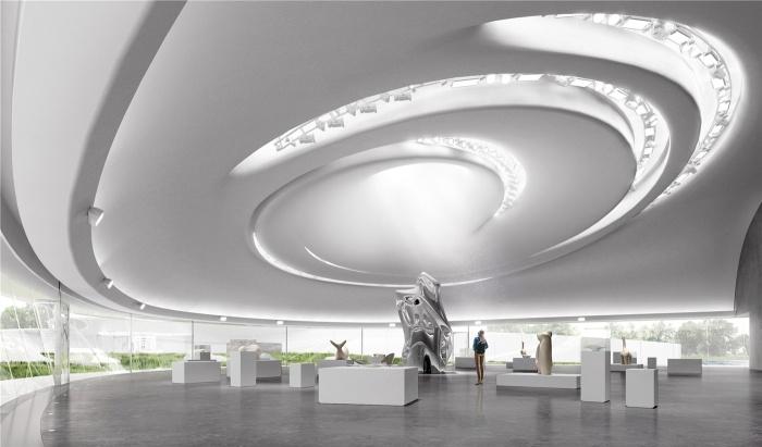 Выставочное пространство удивит не только своими экспозициями, но и дизайном помещения (концепт Aranya Cloud Center). | Фото: globalconstructionreview.com.