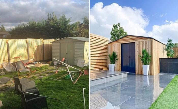 Преобразился не только дом, двор стал идеальным местом отдыха на свежем воздухе (Ливерпуль, Великобритания). | Фото: © home_at_threefourfive.