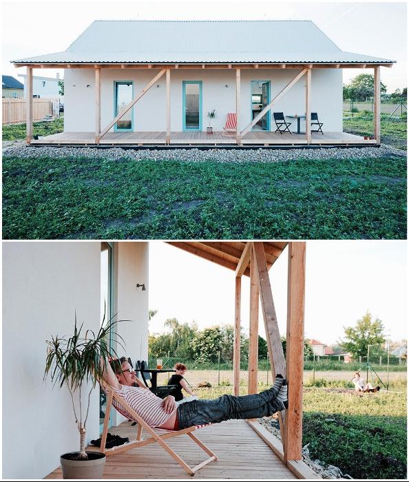 Крытая терраса стала прекрасным местом отдыха на свежем воздухе (IST, Словакия).