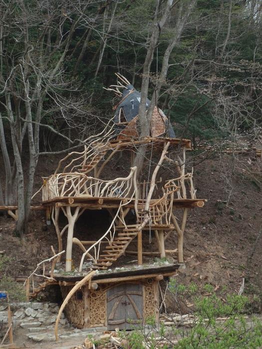 Необычный «Дом дракона» на дереве создали для детей в городе Хигасимацусима (Япония). | Фото: europlan-crete.blogspot.com.