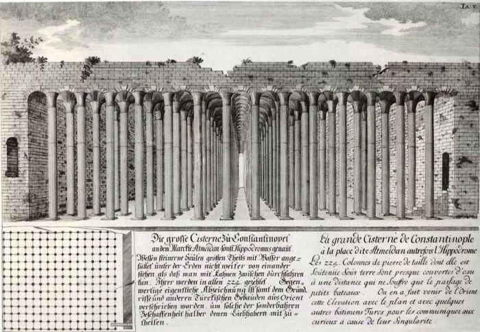Более 7 тыс. рабов  участвовали в строительстве подземного водохранилища, которое длилось почти 200 лет (Basilica Cistern, Стамбул). | Фото: wemp.app.