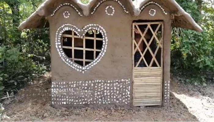 Вот такой домик у них получился.