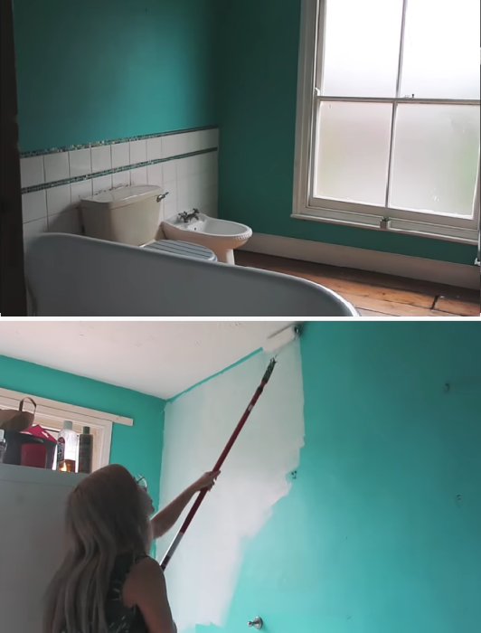 Ванную комнату девушка перекрасила в белый цвет и навела порядок. | Фото: instagram.com/leannelimwalkerhome.