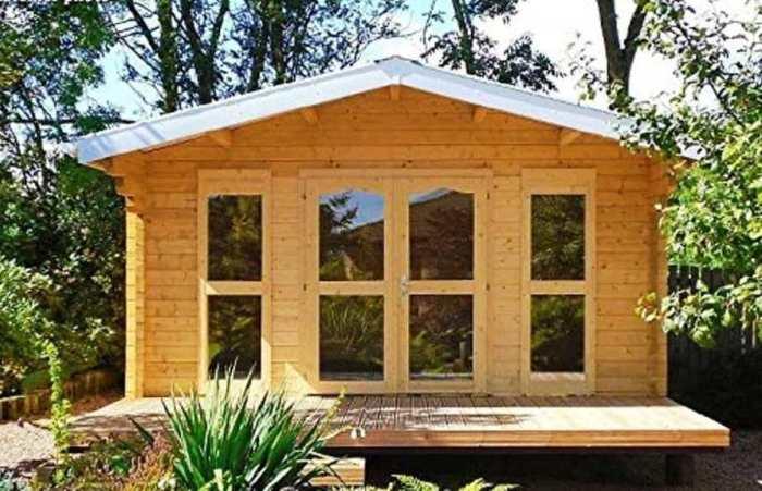 Мини-дом Allwood Sunray может быть прекрасной мастерской или кабинетом. | Фото: apartmenttherapy.com.
