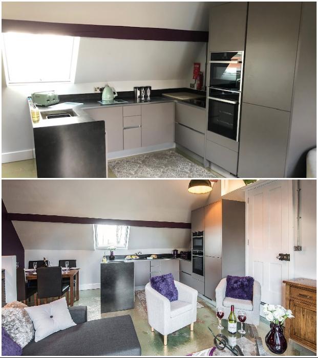 В номерах имеются полностью оборудованные индивидуальные кухни-столовые (Platform Three at Station House, Malvern Link).