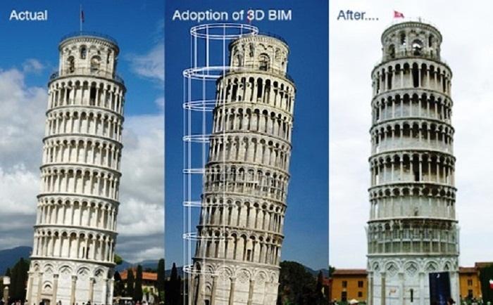Ошибки закладки фундамента Пизанской башни удалось исправить лишь при помощи 3D проектирования (Италия). | Фото: archinect.com.