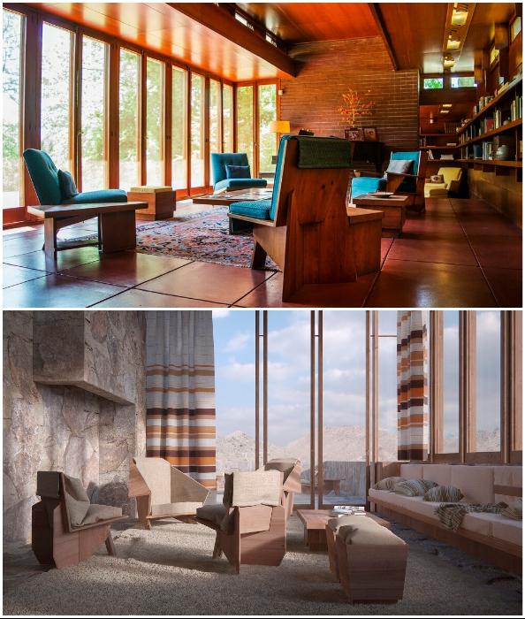Предметы мебели, спроектированные великим архитектором и дизайнером Фрэнком Ллойдом Райтом.