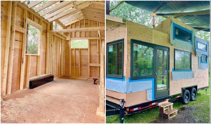 При создании дома на колесах использовались высококачественные материалы.