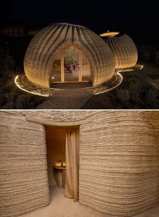 Внешняя и внутренняя отделка стен, потолков и пола для такого типа домов не понадобится (TECLA, Италия).