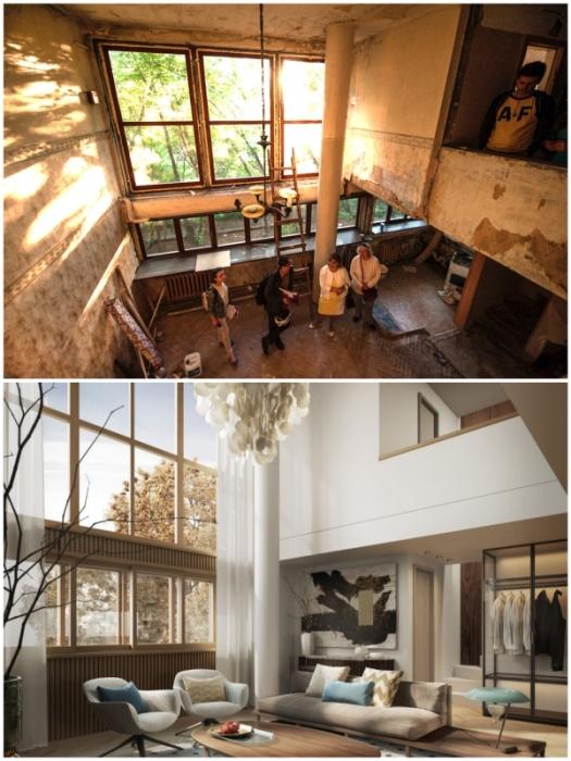 Двухъярусная планировка квартир – роскошь, о которой мечтают все («Дом Наркомфина»).
