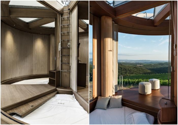 Спальную зону, рассчитанную на двух человек, можно спрятать под раздвижным полом (концепт Casa Ojala').