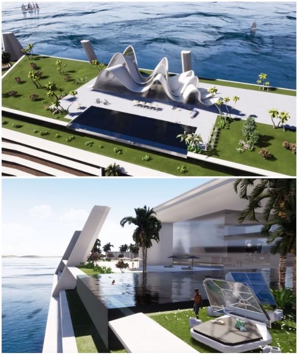 Девелоперы обещают беззаботную жизнь на райском острове (концепт Blue Estate).