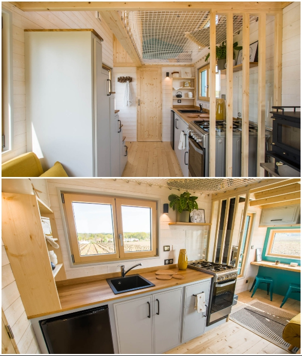 Кухонная зона крошечного дома Tiny House Siana.