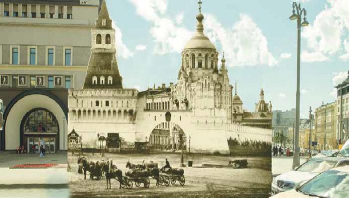 Здесь была расположена часовня Святителя Пантелеймона, а теперь на том месте находится «Наутилус». | Фото: orthodoxmoscow.ru.
