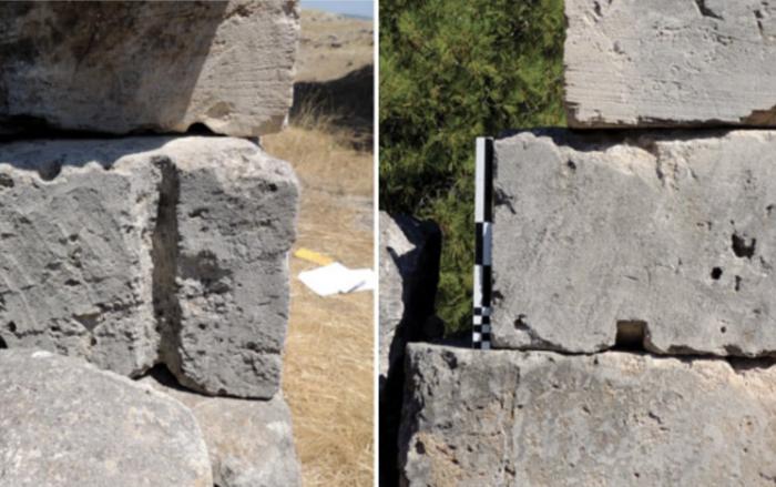 Каменные блоки из храма Посейдона в Истмии сохранили возможные следы использования необычного метода подъема. | Фото: vesti-ukr.com./ ©Alessandro Pierattini.