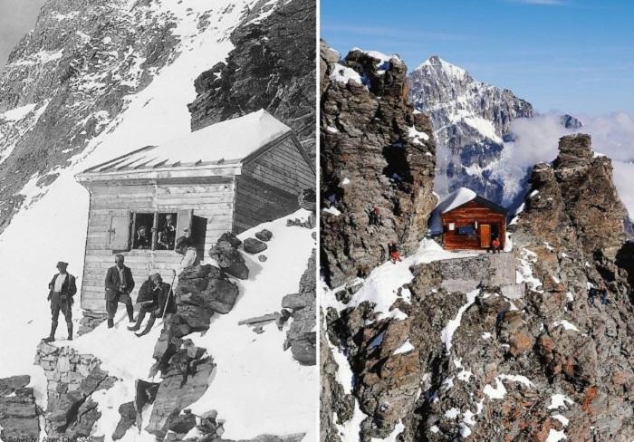 Более 100 лет назад была построена хижина Solvay hut (вершина Маттерхорн, Швейцария). | Фото: twitter.com / @Suisse.