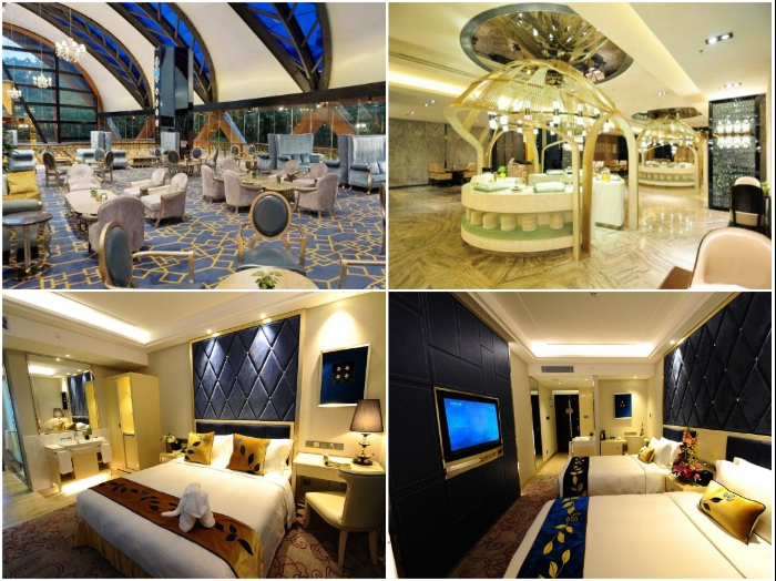 Круглосуточный ресепшен, 5-звездочные номера и лаунж-зоны Sanya Beauty Crown Hotel Tower (Китай).