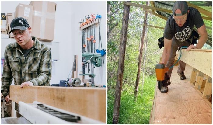 Проектированием и сборкой крошечного дома занимался Кевин, а Хизер – дизайном.