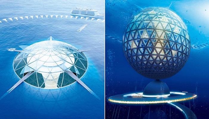 Инновационные проекты будущих подводных городов. | Фото: interestingengineering.com.