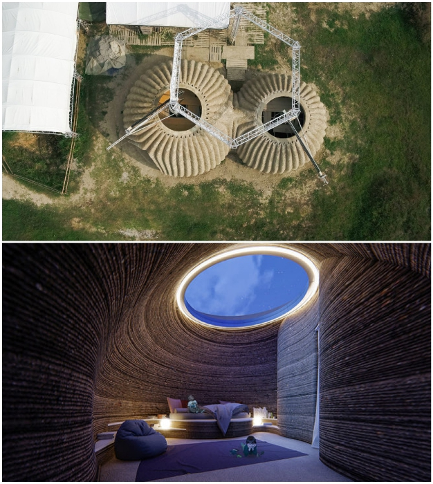 Окна предусмотрены лишь на вершине купола каждой структуры (TECLA, Италия).
