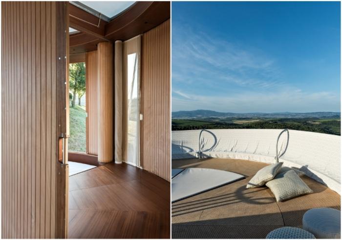 Скользящие по рельсам стены помогут создать закрытое пространство или обеспечат панорамный обзор (концепт Casa Ojala').