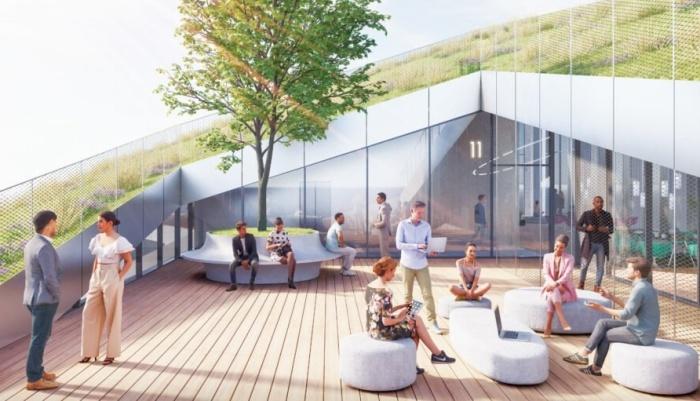 Зоны отдыха для сотрудников офисов на свежем воздухе (концепт Fase Valley). | Фото: archdaily.com.