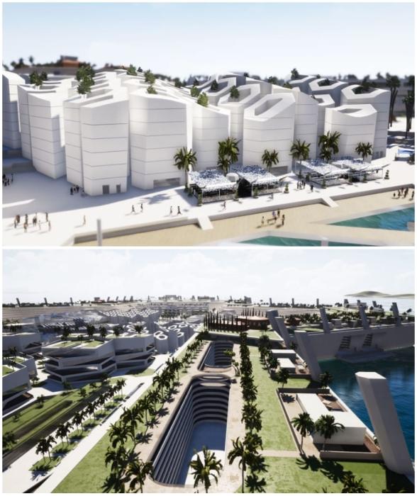 Новаторская архитектурная концепция, обилие зелени и 340 солнечных дней в году – поистине заманчивое предложение (концепт Blue Estate).