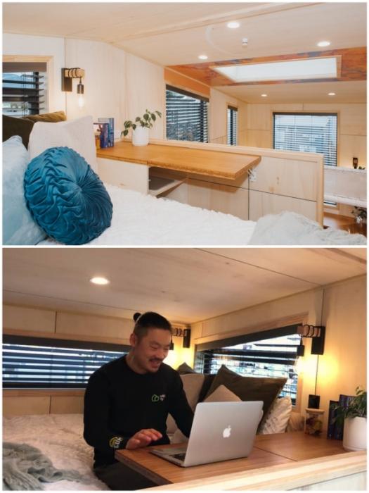 В спальне можно хорошенько выспаться и плодотворно поработать (Autumn, Новая Зеландия).