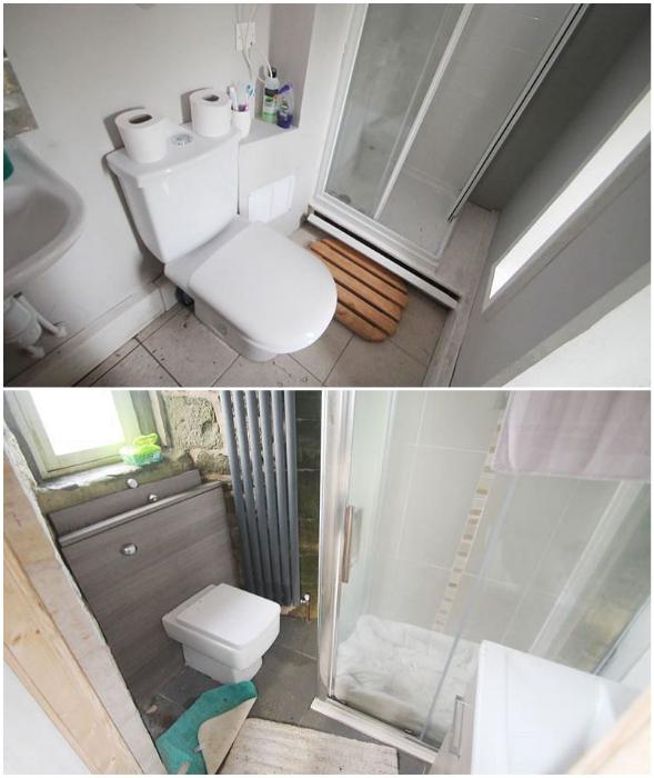 Ванная комната оказалась не в лучшем состоянии (Caldwell Tower, башня Folly).