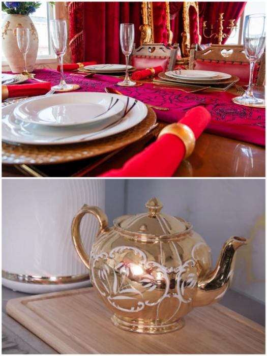 Изысканные столовые приборы порадуют любителей окружать себя роскошью (Royal Caravan, Великобритания).