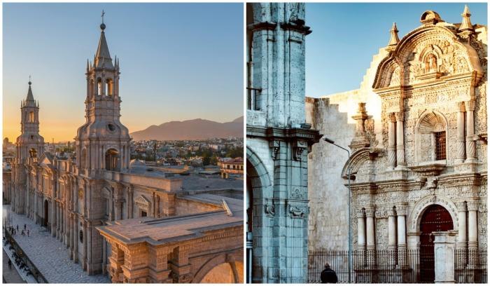 Удивительная красота архитектурных сооружений старинного города Арекипа не оставит никого равнодушными (Перу).