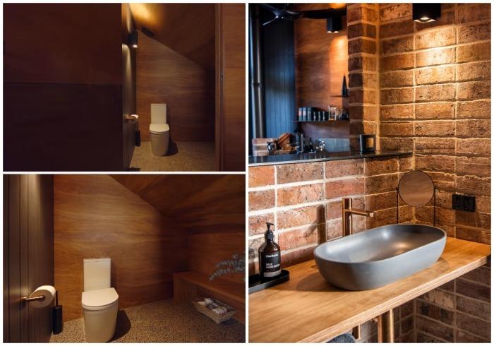 Единственное закрытое пространство в интерьере оригинального дома - это туалет (Gawthornes Hut, Австралия).