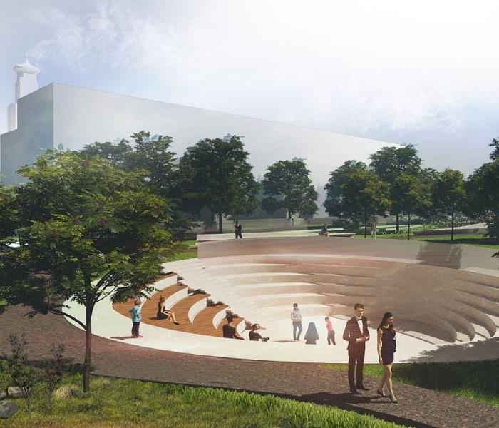 Планируют облагородить всю прилегающую к филармонии и новому залу территорию.