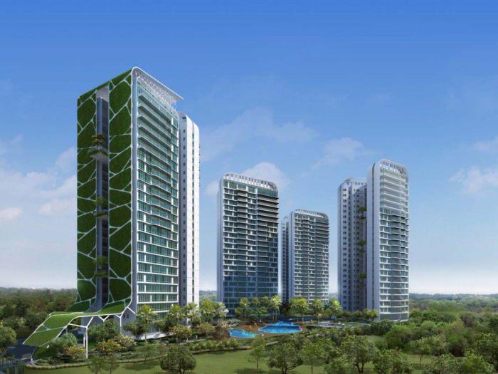 Жилой комплекс «Tree House» признан самым высоким садом мира (Сингапур). | Фото: stateofbuildings.sg.