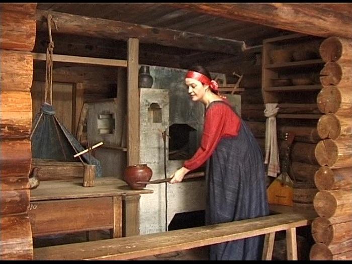 Старинная русская печь.