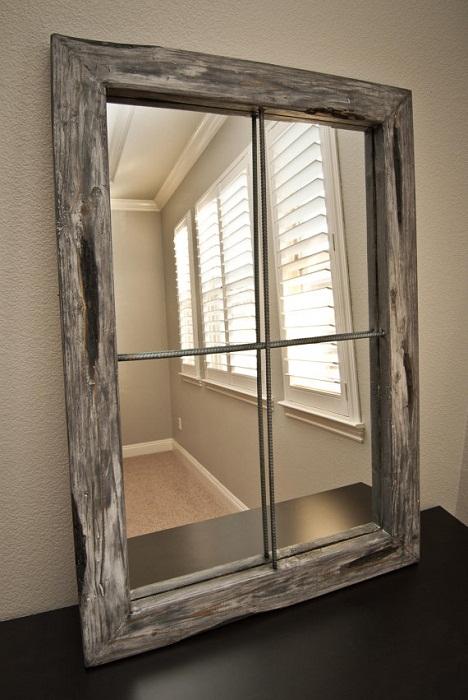 Вместо простенка можно установить зеркальное окно.