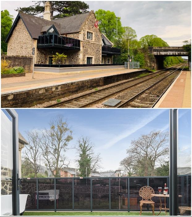 Из каждого номера имеется выход на собственный балкон (Platform Three at Station House, Malvern Link).