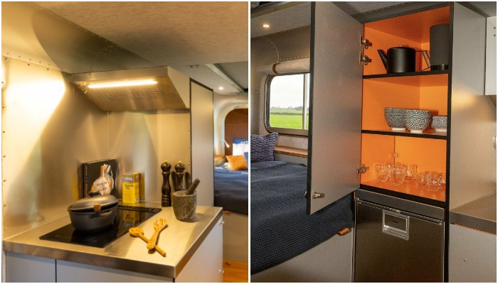 Благодаря мини-кухня получится наслаждаться домашней едой даже в полевых условиях и в любую погоду (кемпер Lume Nordic-LT540).