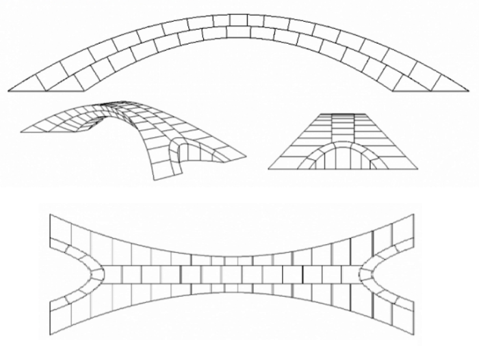 С помощью 3D принтера ученые создали 126 блоков имитирующих камень и собрали мост. | Фото: news.mit.edu.