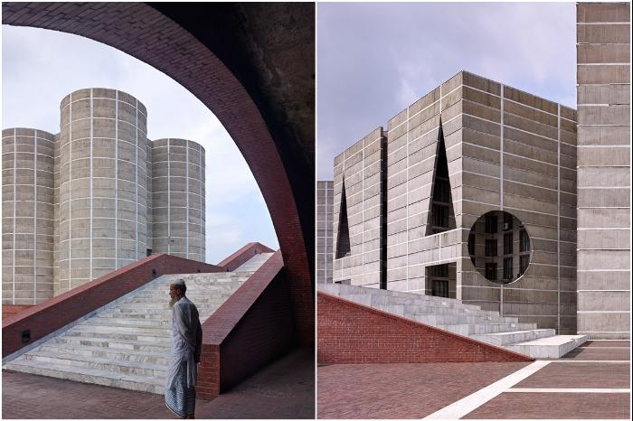 Верховный суд Бангладеш запретил вносить какие-либо изменения в первоначальный облик комплекса Национальной Ассамблеи, созданный Каном (Дакка). | Фото: behance.net.